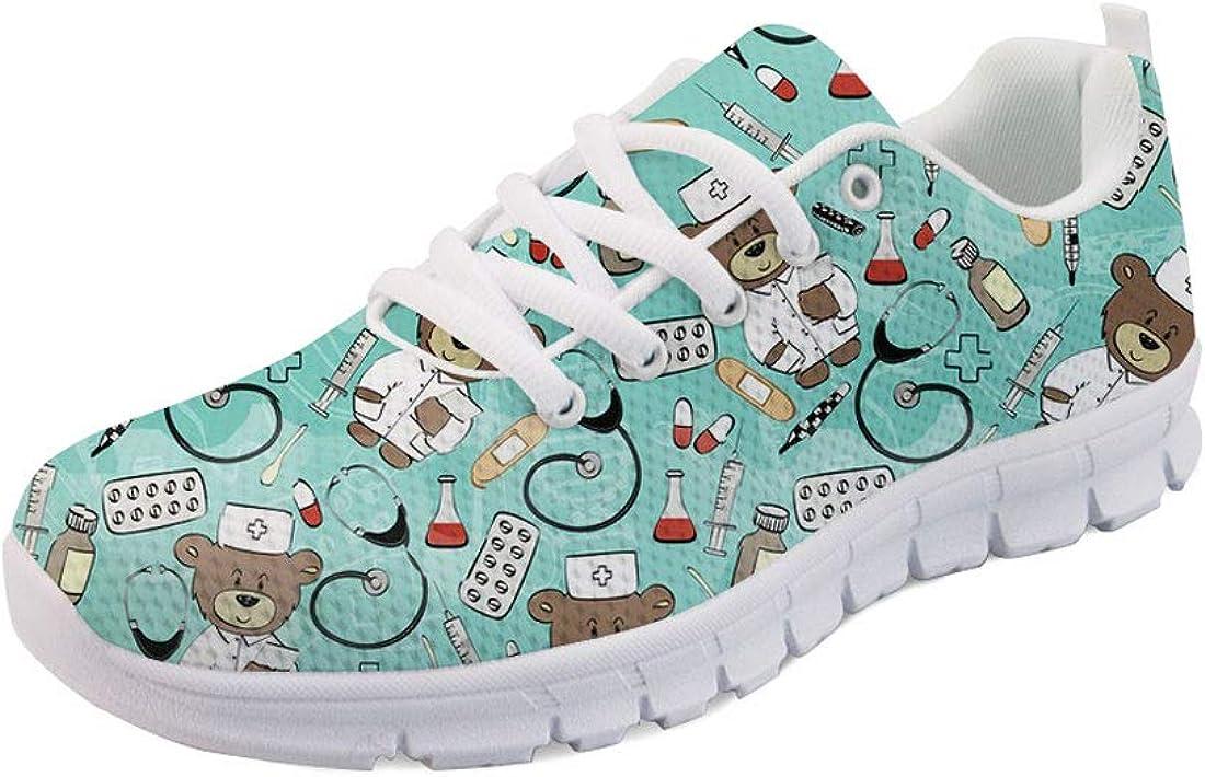 Nopersonality Cartoon Nurse Bear Krankenschwester Schuhe Sportschuhe Sneaker Damen Eu 36 43 Schuhe Handtaschen