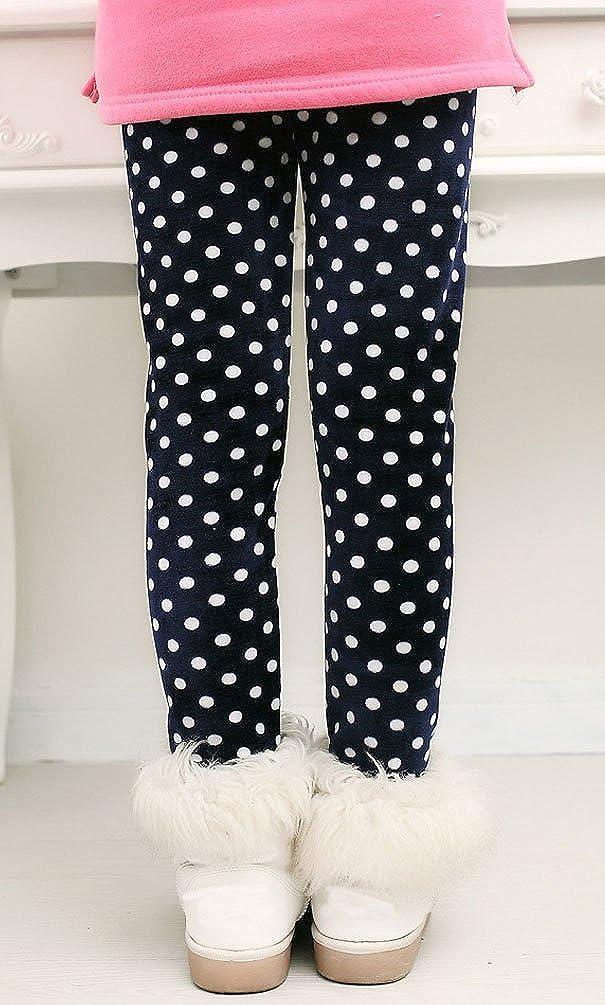BOGIWELL Kid Girl Winter Cute Warm Thick Fleece Legging Pant