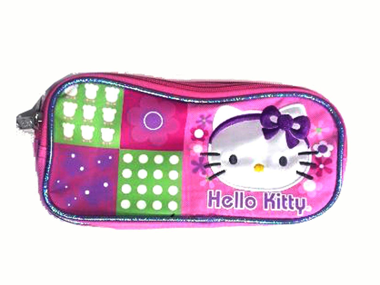 f48c866b5 Pink and Purple Hello Kitty Headband Cosmetic Bag - Hello Kitty Pencil Bag:  Amazon.co.uk: Toys & Games