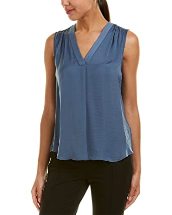 bbdec1bce8d8 VINCE CAMUTO Women's Sleeveless V-Neck Rumple Blouse at Amazon Women's  Clothing store: