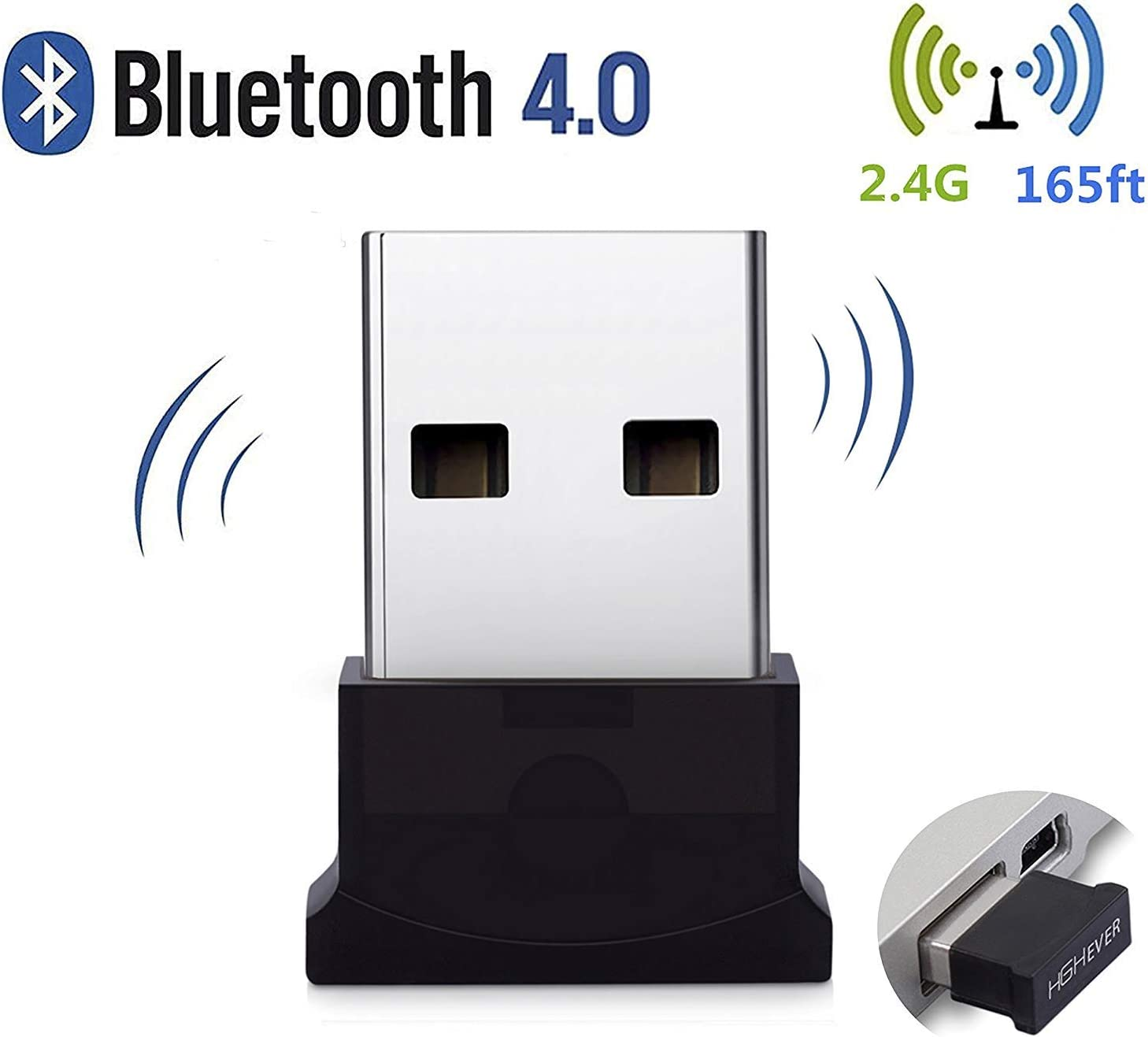 Amazon Com Bluetooth Usb Adapter 4 0 Bluetooth Low Energy 2 4ghz Range Wireless Usb Dongle Adapter For Pc Windows 10 8 1 8 7 Vista Xp Computers Accessories