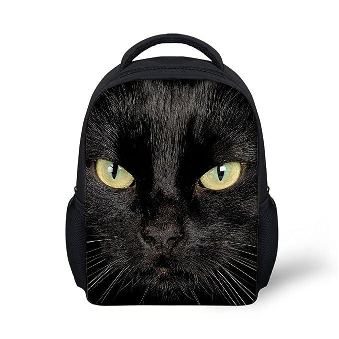 f6516877393 Amazon.com   HUGSIDEA Cute Black Animal Cat Backpack Mini Baby Girls ...