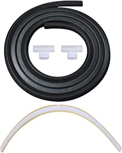 154827601 Door Seal, 809006501 Lower Seal and 154701001 Splash Shield Kit, Dishwasher Bottom Door Seal Gasket Kit for Frigidaire Kenmore