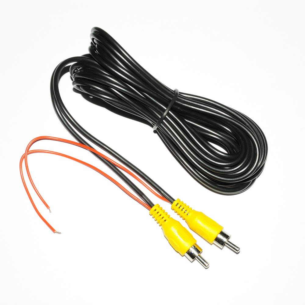 Backup Camera RCA Video Cable,CAR Reverse Rear View Parking Camera Video Cable with Detection Wire 6M