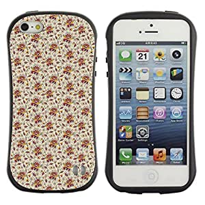 DesignCase Premium TPU / ABS Hybrid Back Case Cover Apple iPhone 5 / 5S ( cute flower )