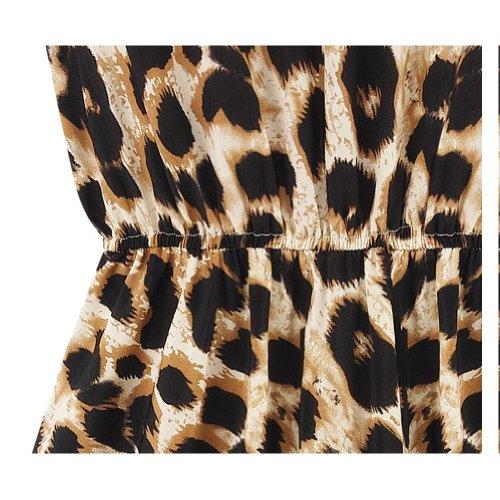 Prendisole Moda Leopardo Mini Delle Abito Esotico Donne Flouncing Ca Bwwdpv