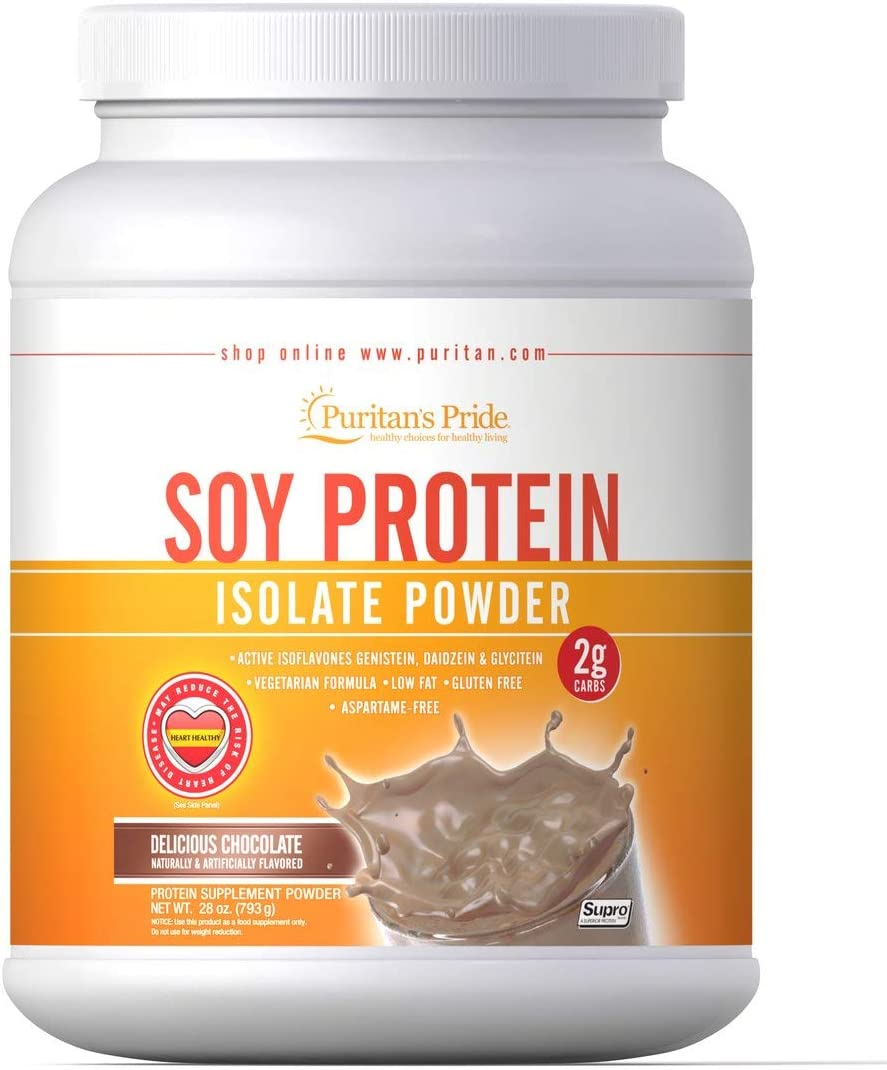 Puritan s Pride Soy Protein Isolate Powder Chocolate-28 oz Powder