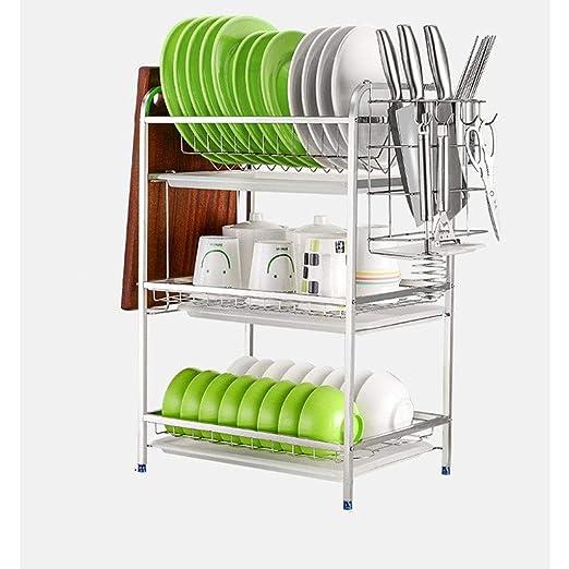 Organizador cocina Acero inoxidable escurridor rack ...