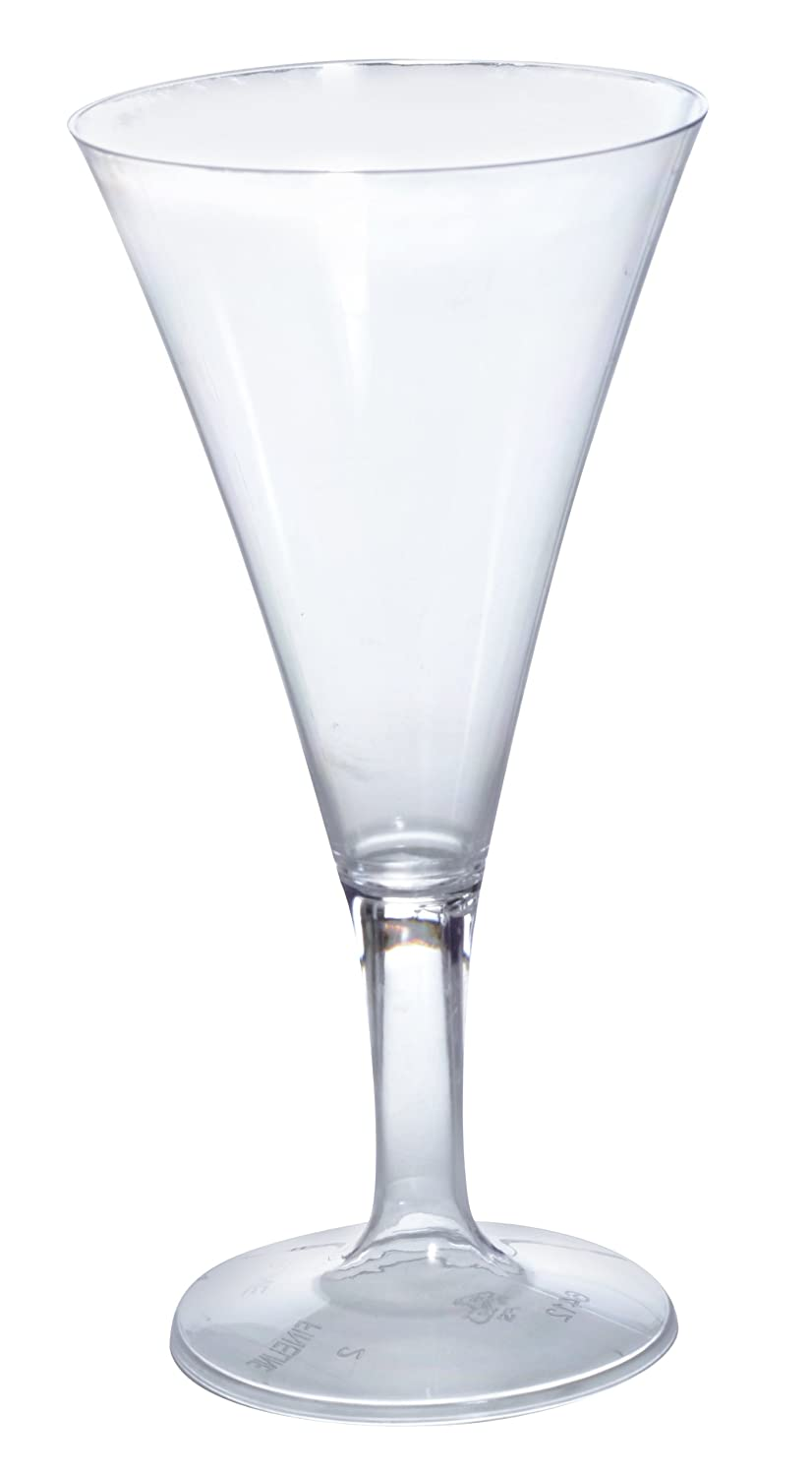 Fineline Settings Tiny Temptations Clear One Piece 2 Oz. Tiny Champagne Glass 96 Pieces Fine Line Settings Inc. 6412-CL