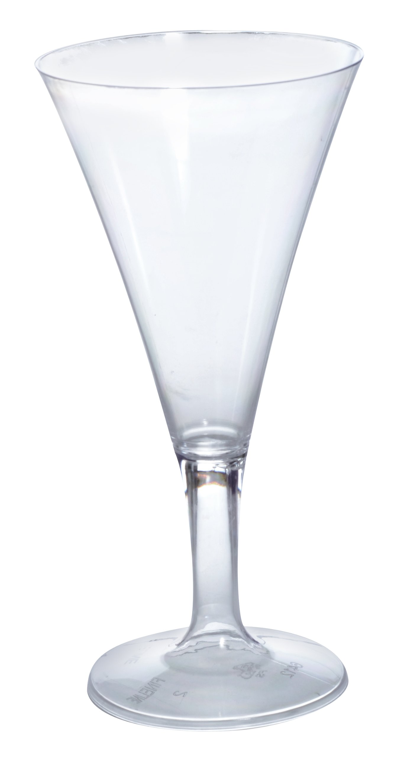Fineline Settings Tiny Temptations Clear One Piece 2 Oz. Tiny Champagne Glass 96 Pieces by Tiny Temptations