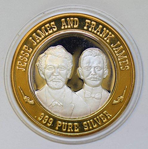 IE BU0342 US casino chip token jesse james frank james silver DE PO-01