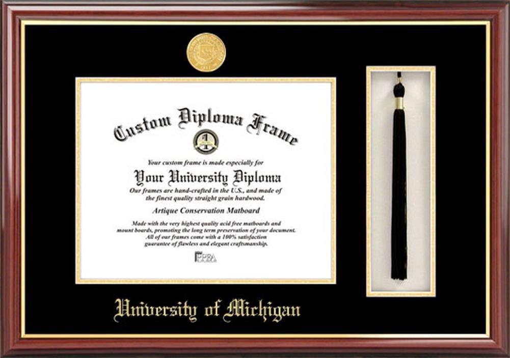 Universidad de Michigan Wolverines Diploma marco y borla de caja ...
