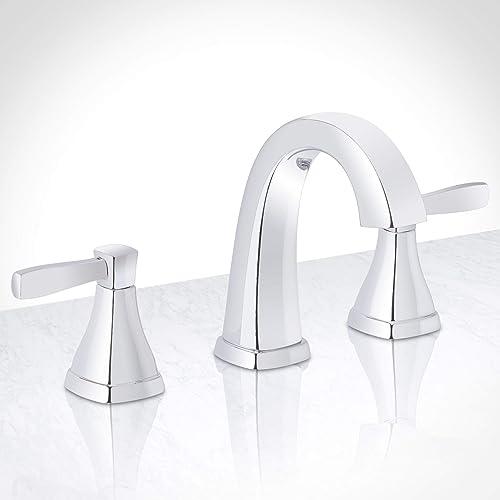 Miseno ML641 Elysa-V Widespread Bathroom Faucet – Includes Push-Pop Drain Assembly