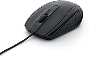 Verbatim Optical Mouse - Wired with USB Accessibility - Mac & PC Compatible - Black