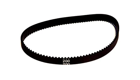 Correa dentada redonda de goma 2GT, de 6 mm de ancho x 200, 280
