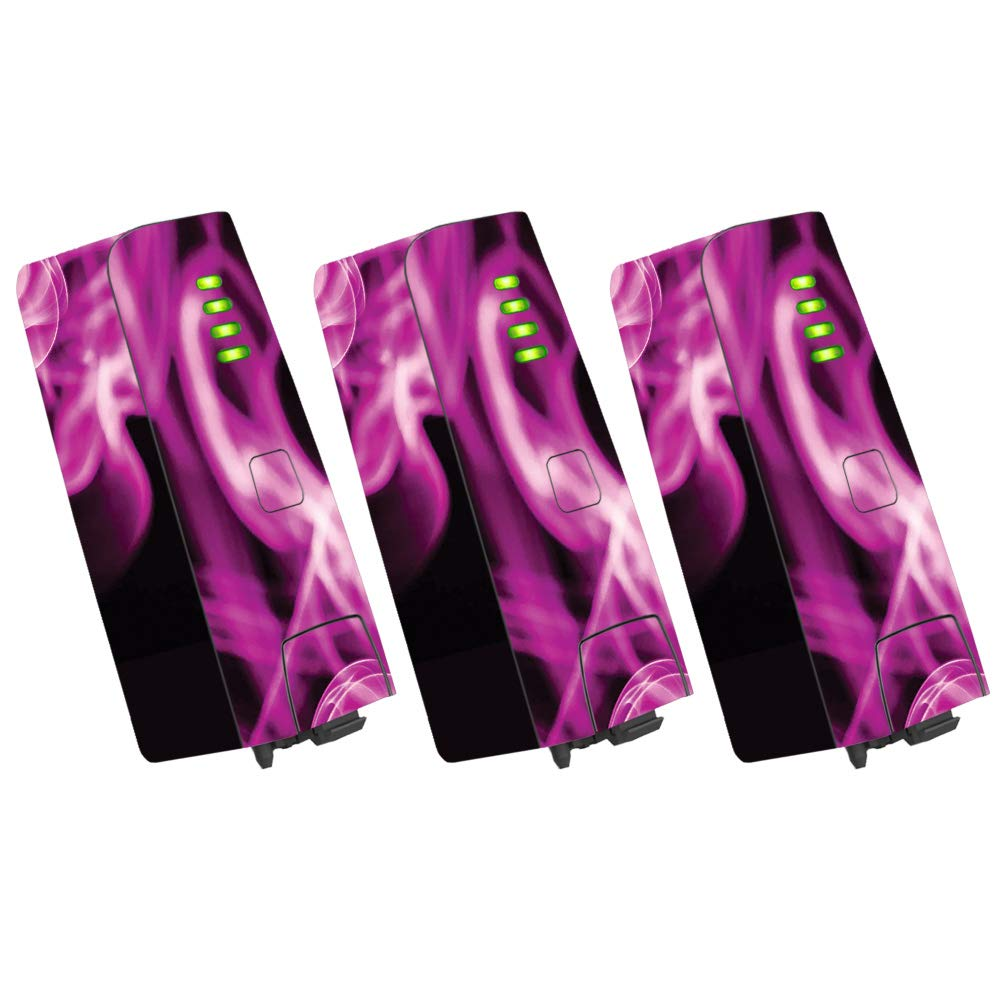 MightySkins スキンデカールラップ オウムステッカー保護カバー 100色展開 Parrot Bebop 2 PABEBOP2-2Mixtape B07H9J13N7 3 pack Of Battery Skin Only|Pink Flames Pink Flames 3 pack Of Battery Skin Only