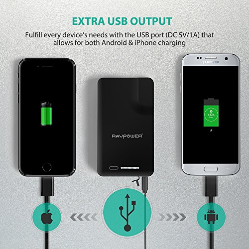 transportable Charger RAVPower 9000mAh electric power Bank using AC Plug Apple MFI Certified built in Apple Lightning Connector External Battery Pack iSmart Broad Compatibility quickly Charging Chargers electric power Adapters