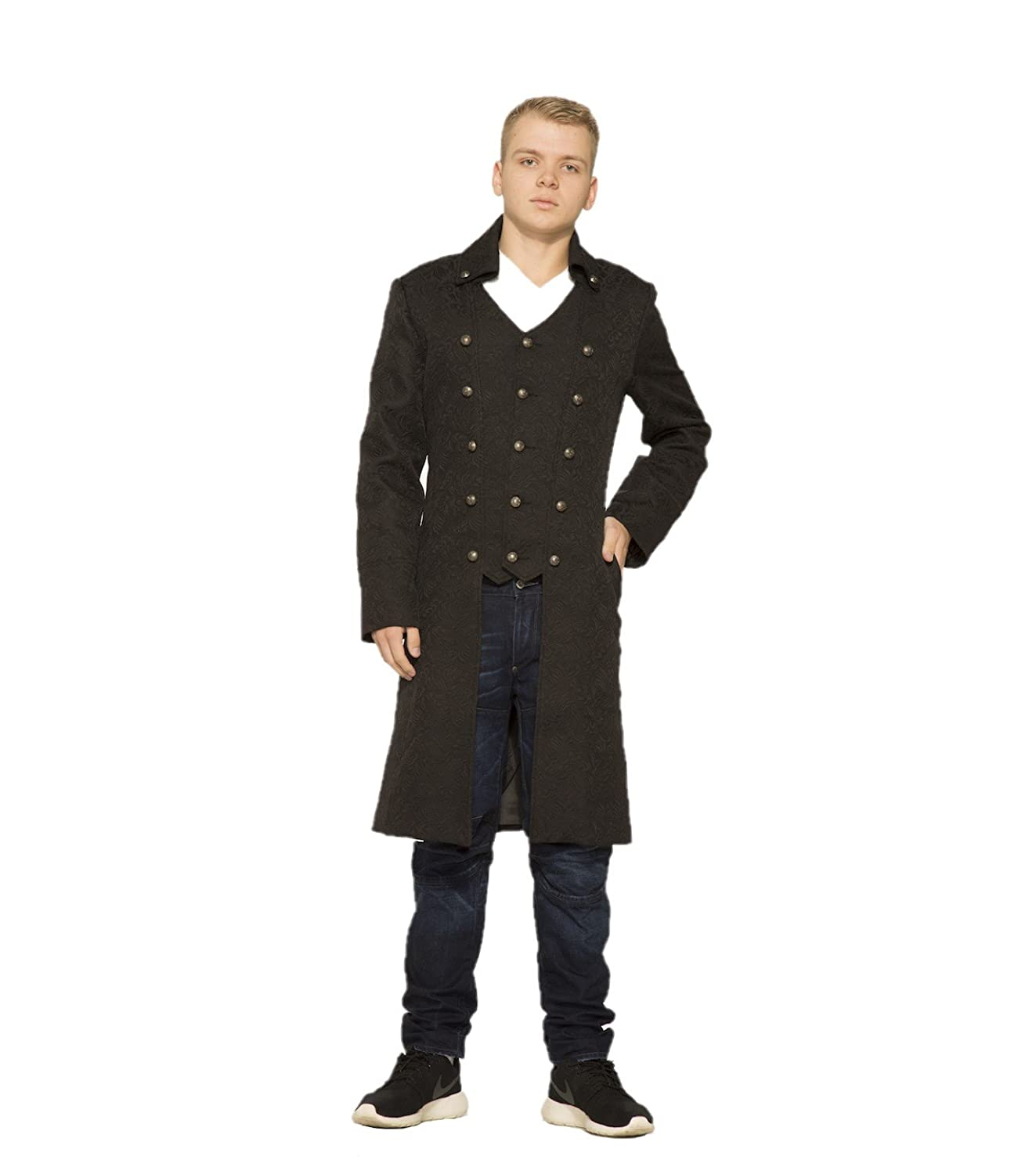 Men's Steampunk Jackets, Coats & Suits Hearts & Roses Garrick Coat (Shipped from The US and US Sizes) $69.88 AT vintagedancer.com
