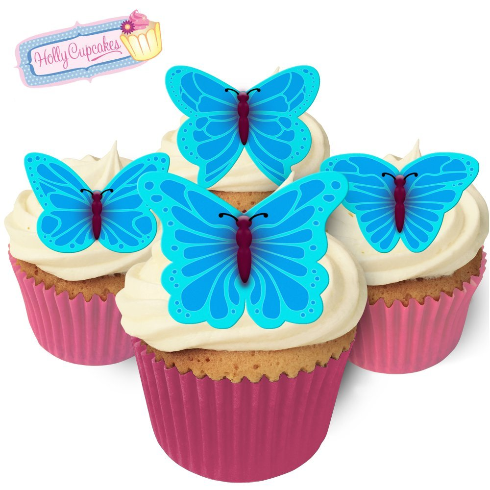 12 Gorgeous Edible Butterflies: Blue Holly Cupcakes