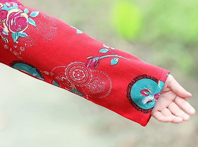 Linlink Venta de liquidación Moda Mujer Prendas de Abrigo algodón Lino Invierno Abrigo Folk-impresión Personalizada Outcoat Chaqueta: Amazon.es: Ropa y accesorios