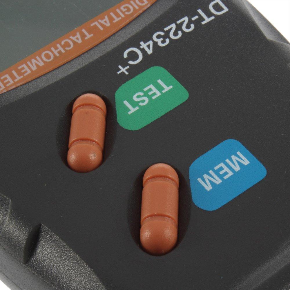 Luxtech DT-2234C Tachometer Digital Foto Laser gro/ßes Display LCD Tachometer Messger/äte von Abstand Laser Ma/ßnahme Genaue RPM von Motoren und Teile von Maschinen Drehmaschine von Holz und Metall