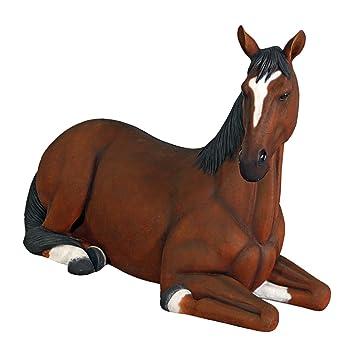 amazon com design toscano resting life size quarter horse filly
