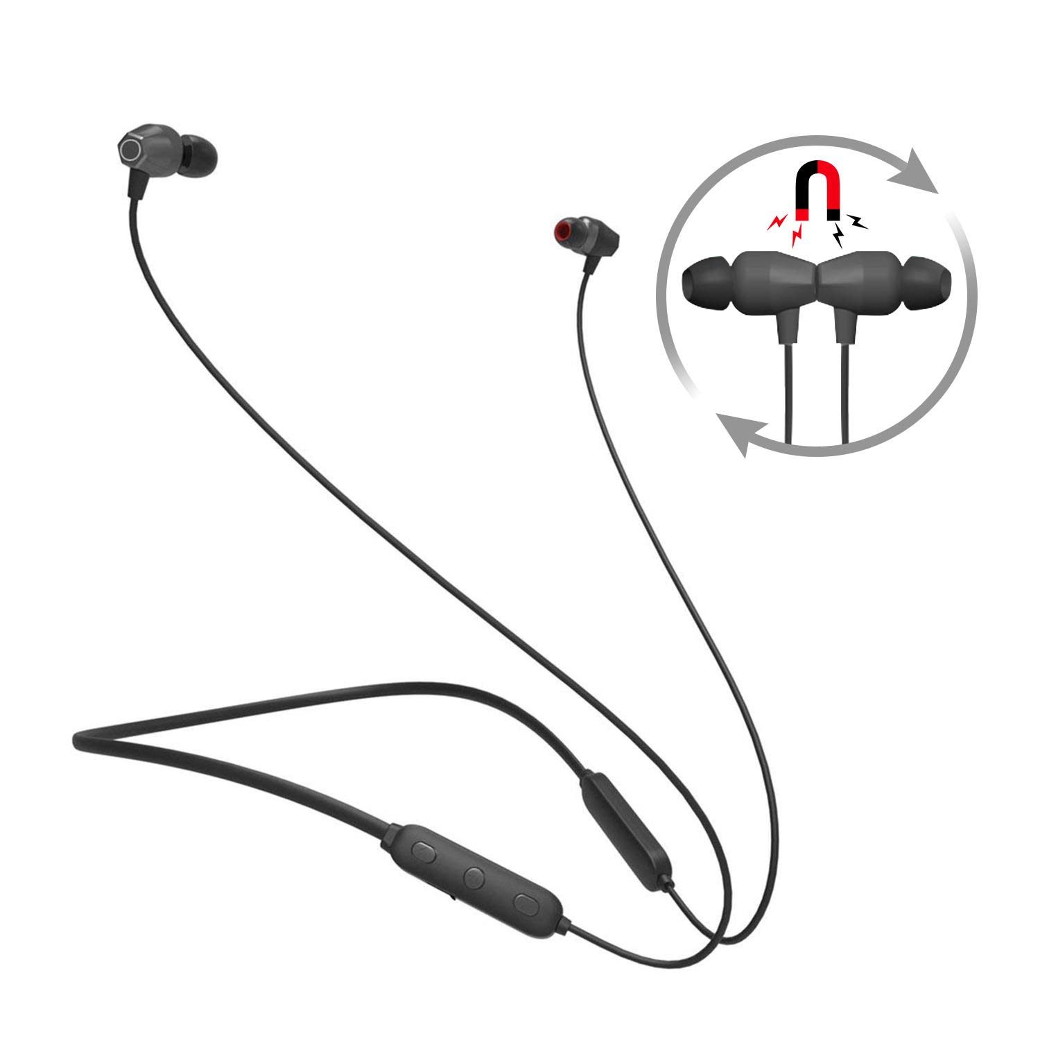 Bluetooth Headphones Neckband, Wireless 4.1 Magnetic Earbuds Sports Sweatproof in-Ear Earphones Noise Cancelling Headset with mic for iPhone X 8 7 Plus Samsung Galaxy S7 S8 and Android Phones