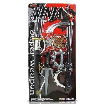 Juego de 6 Ninja Juego Ninja Espada lucha Espada Daga ...
