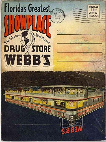 (Webb's Drug Store - Webb City St. Petersburg Florida (1940's Souvenir Linen Postcard Folder))