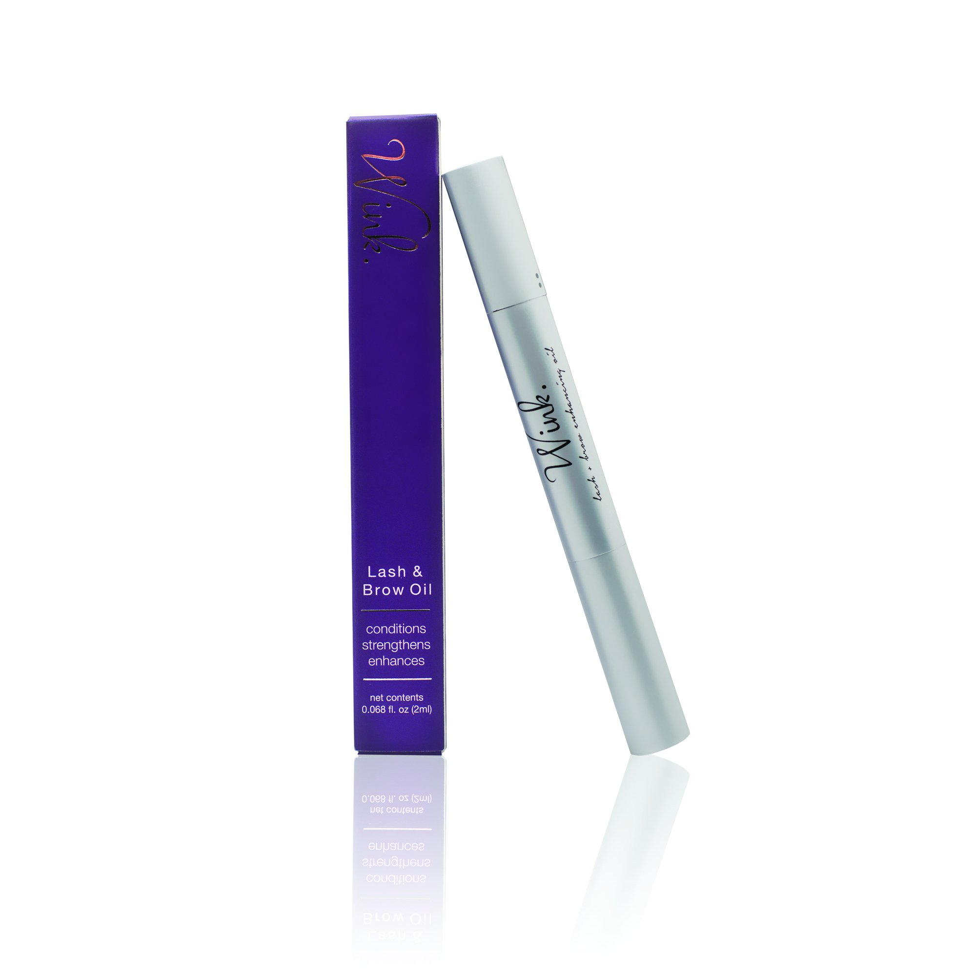 Amalie Wink Lash & Brow Enhancing Oil Vegan, Hypoallergenic, Cruelty-Free, Made In USA by Amalie