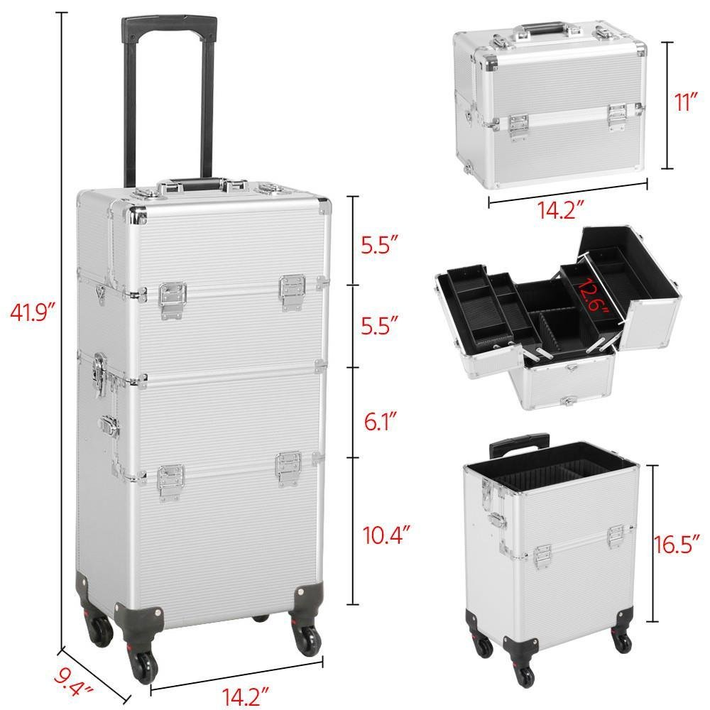 7b97e1eb7090 Amazon.com : Gotobuy Aluminum Makeup Case Salon Cosmetic Train ...