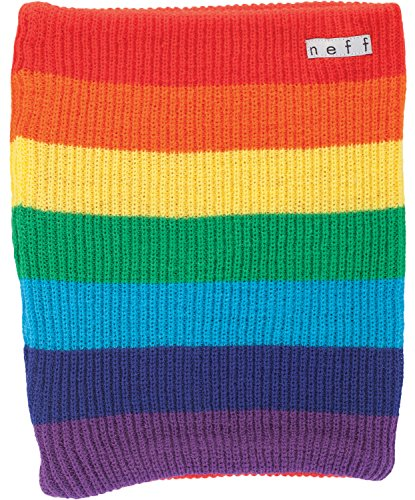 Neff Daily Stripe Neck Gaiter Rainbow One Size Mens