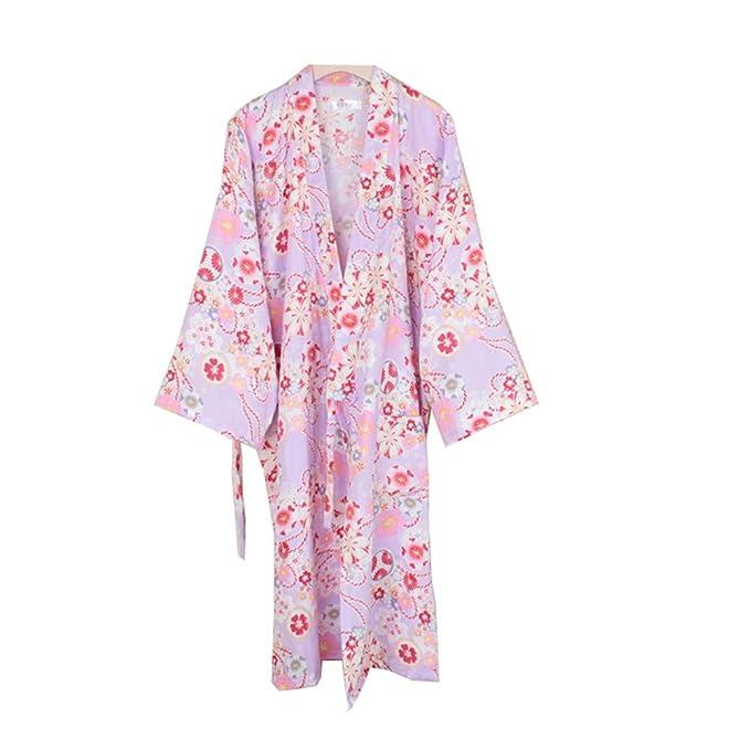 Fancy Pumpkin Traje de baño Elegante de Las Mujeres japonesas del Vestido de la Bata Kimono