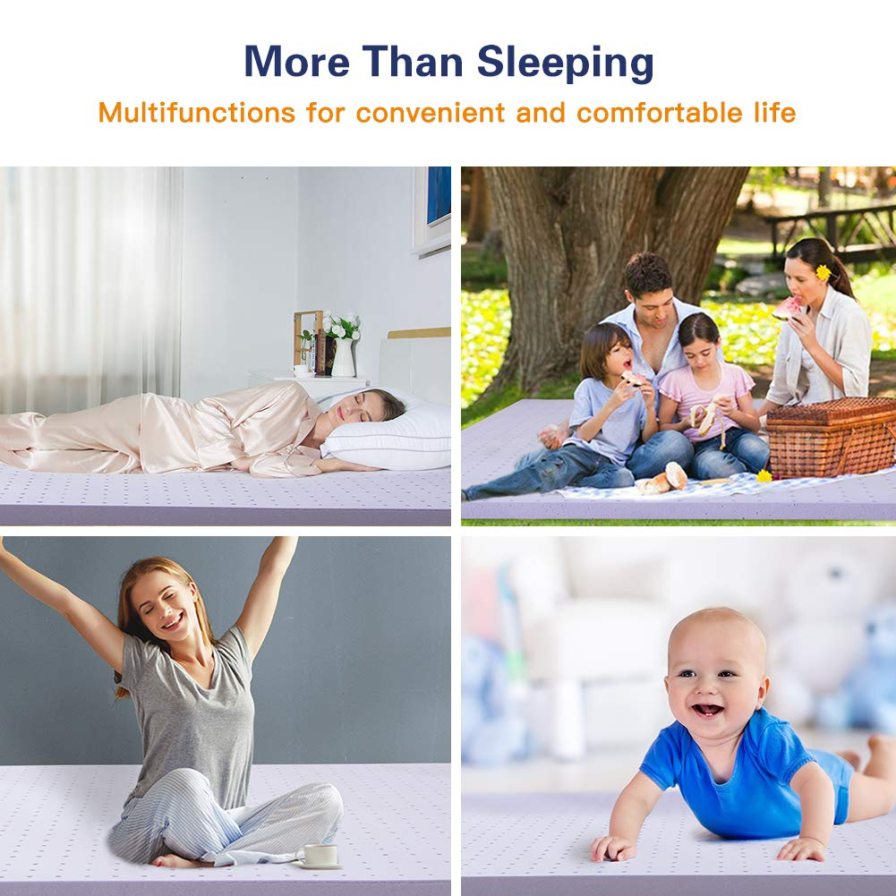 Full 3 Year Warranty-Ventilated Design Gel Memory Foam Mattress Topper BedStory Topper