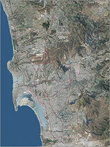 San Diego Topo Map With Aerial Photography Mapping Specialists