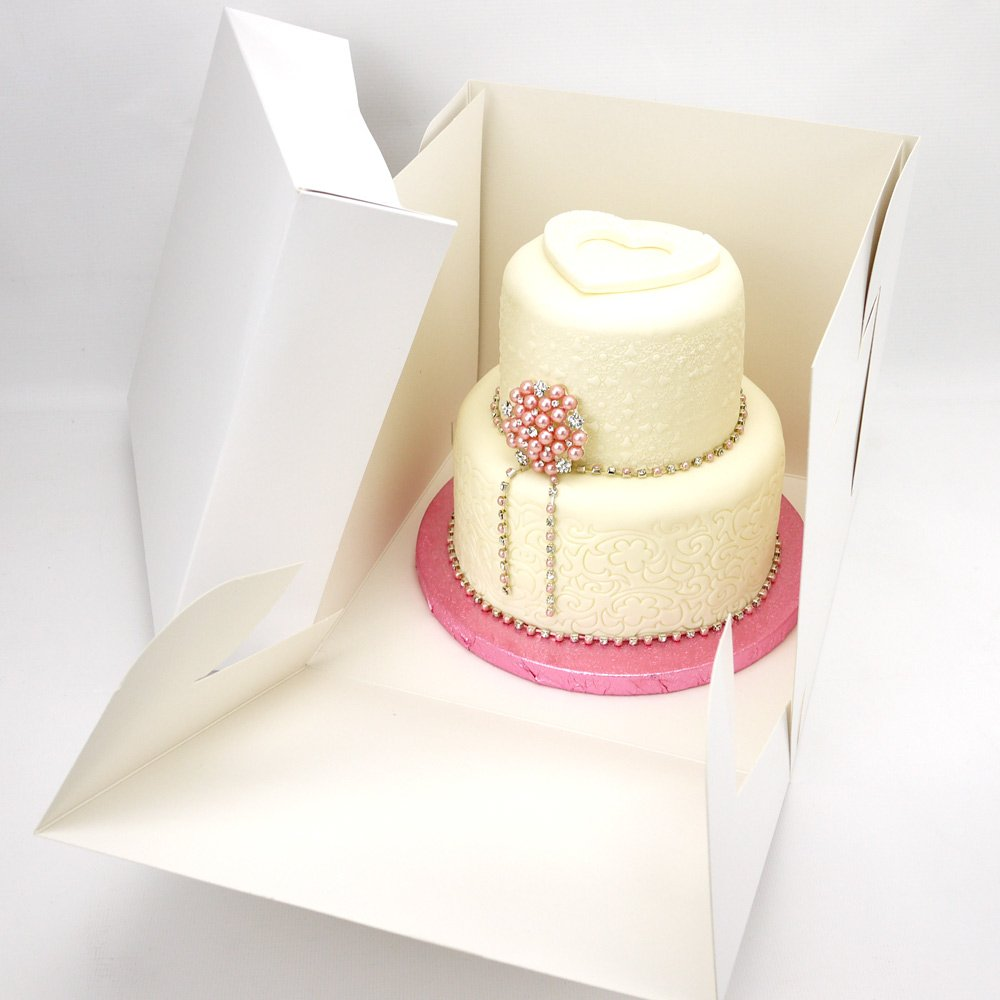 10 x 9 Inch Tall Stacked Cake Box (1) Cake Craft World