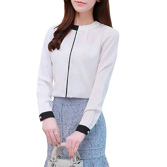 Mujer Blusas Elegante Moda Vintage Ocasional Colores Sólidos Camisa De Manga Larga Primavera Otoño Basic Manga