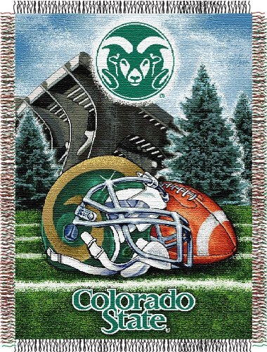 "The Northwest Company Officially Licensed NCAA Colorado State Rams Home Field Advantage Woven Tapestry Throw Blanket, 48"" x 60"""