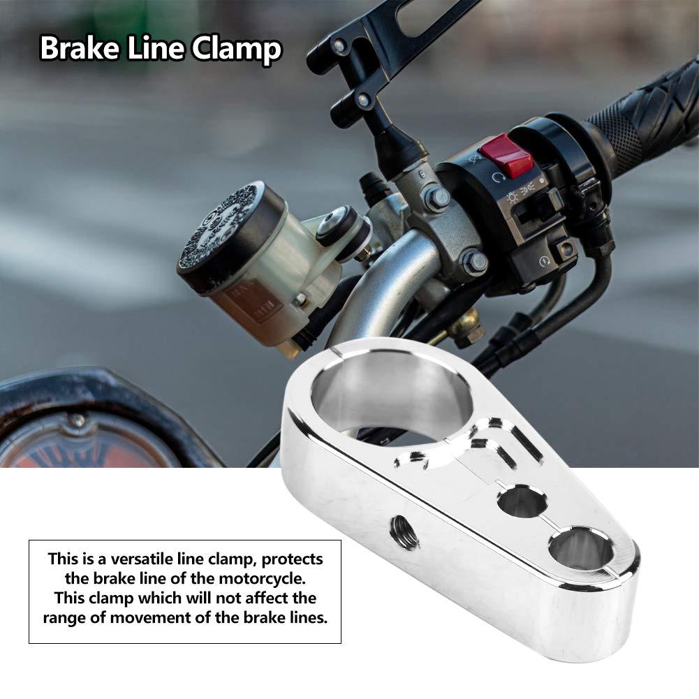 1 Motorcycle Handlebar Clutch Cable Brake Line Clamp Holder Bracket Motorbike Part Plating Color Brake Line Clamp