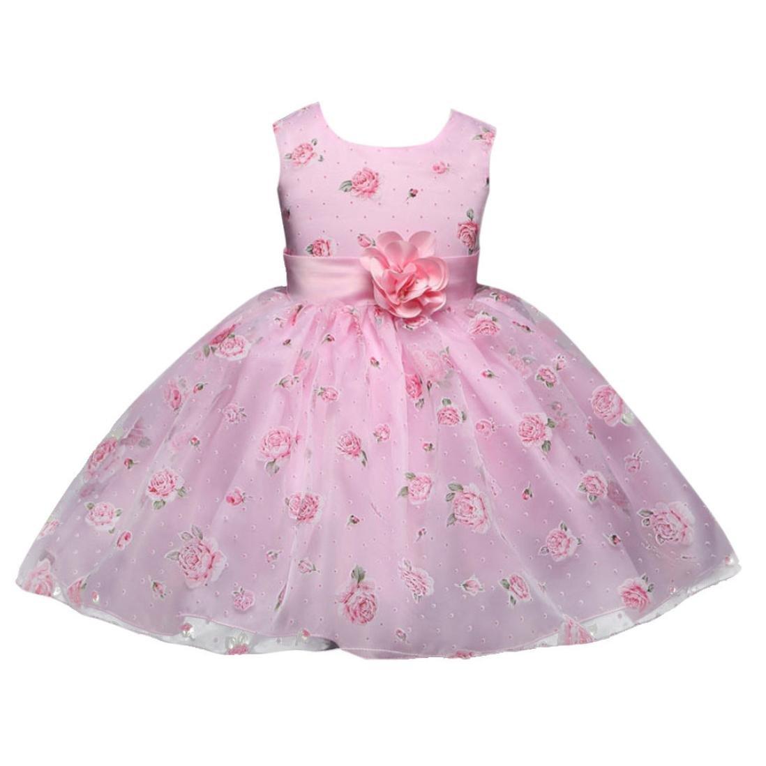 Prinzessin Kleid Mädchen Rosa Abendkleid Festlich Kleid ...