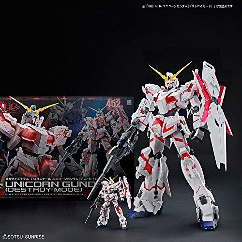 Bandai Hobby Mega Size 1/48 Unicorn Gundam [Destroy Mode] Gundam UC Model Kit Figure by Bandai Hobby (Image #11)