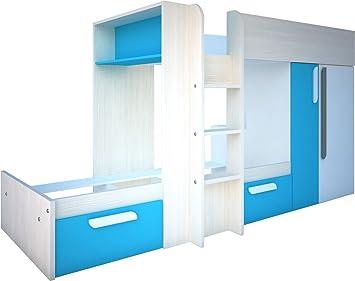 Etagenbett Trasman : Trasman bo1 etagenbett melaminharzbeschichtete holzspanplatten