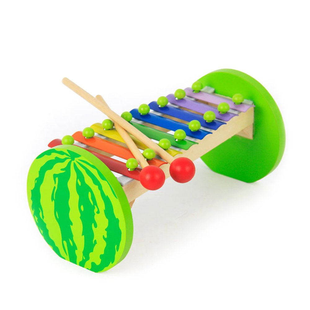 Baidercor Colorful 8 Keys Watermelon Xylophone Musical Toys