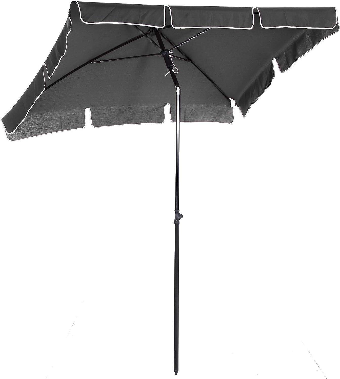 Outsunny Sombrilla Cuadrada Grande Parasol con Ángulo Ajustable ...
