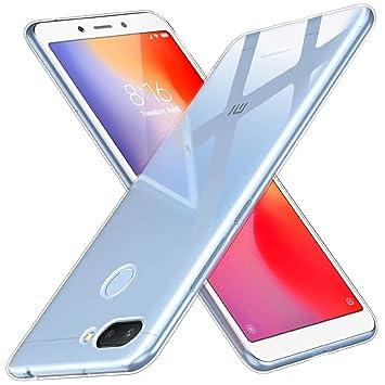 Peakally Funda Xiaomi Redmi 6, Transparente Silicona Funda para Xiaomi Redmi 6 Carcasa Flexible Claro Ligero TPU Fundas [Antideslizante] [Resistente a ...