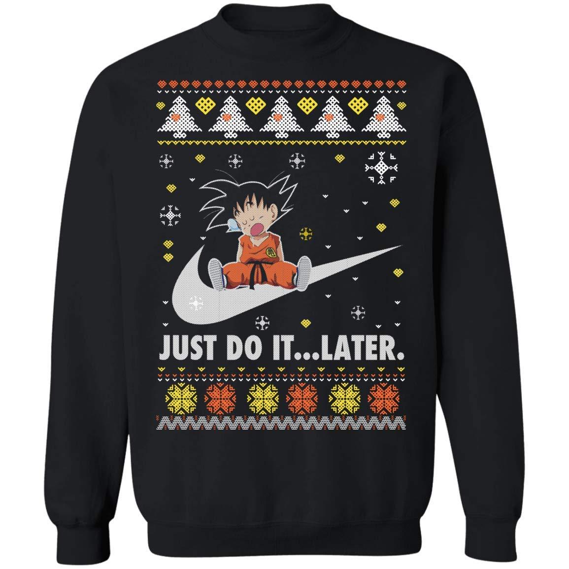 Dragon Ball Son Goku Ugly Christmas Saiyan Xmas Dragonball Z Crewneck Pullover Sweatshirt