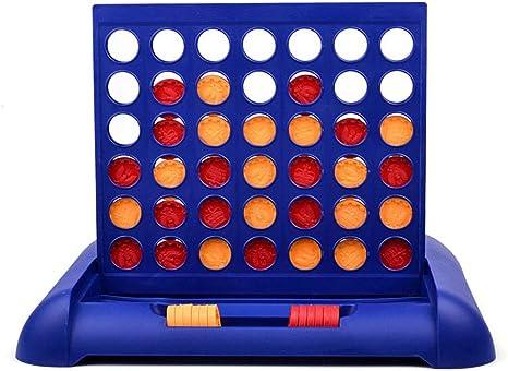 Lixada Juego Niños Familias Fiestas 4 en Una Fila Bingo Juegos de Mesa Entretenimiento para Mayores: Amazon.es: Deportes y aire libre