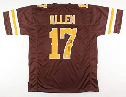 reputable site 699af 77f67 Josh Allen (Wyoming Cowboys) Signed Jersey - COLLEGE STYLE w ...