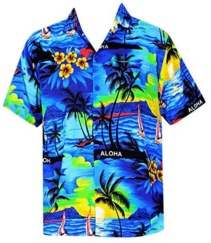 Blue Aloha Shirt - 7