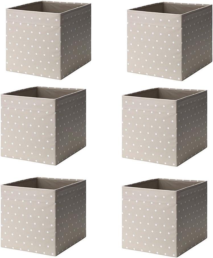 Ikea Drona Box (punto beige, paquete de 6 unidades (largo x ancho x alto): 13 pulgadas x alto).: Amazon.es: Bricolaje y herramientas